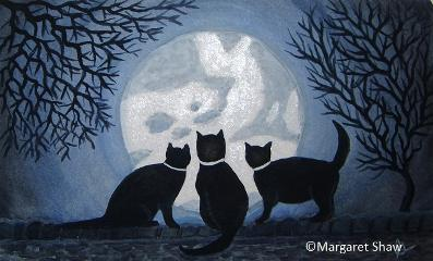 Three CATch the moonlight