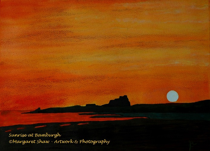 Sunrise at Bamburgh