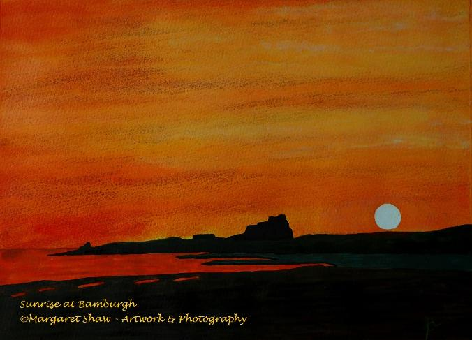 Sunrise at Bamburgh Castle