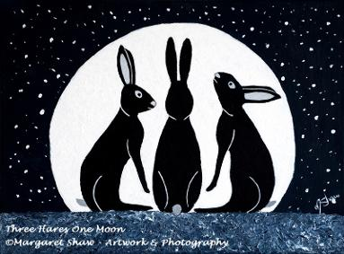 Three Hares One Moon